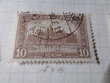HONGRIE 1920, timbre CLASSIQUE 304, PARLEMENT, oblitéré, VF CANCEL STAMP
