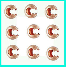 25pcs 4mm 14k Rose gold filled round crimp bead cover F05rg