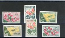 Gabon 1961 Flowers Scott# 154-9 mint NH Imperforate