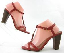 J.Crew Cecelia High Heel Buckle Strap Open Toe Sandals Tomato Red US 8.5