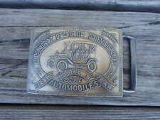 Vtg 1970s HENRY FORD Detroit Automobiles Model T Metal Belt Buckle