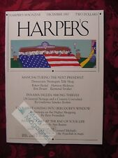 HARPER's December 1987 Panama Guillermo Sanchez Borbon Tad Friend Ann Beattie