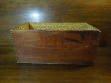 Vintage Jell-O Wooden Box with Wallpaper Design Inside