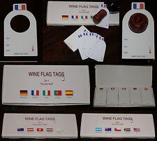 Weinflaschenanhänger dans XXL Paquet pour 14 Différents Pays Plus 1 X Blanco