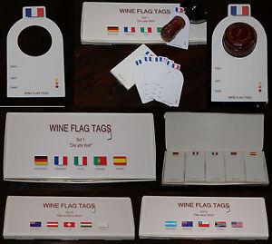 Weinflaschenanhänger im XXL Paket für 14 unterschiedliche Länder plus 1 x blanco