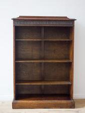 Antikes Regal Bücherregal, England um 1920, Eichenholz gewachst