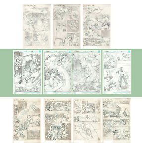 original comic book art - sample pages from 1996 by Pat Quinn
