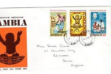 Zambia - 1970 Preventative Medicine FDC