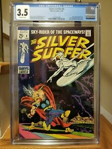 Silver Surfer #4 2nd Mephisto CGC 3.5 Low Print Run HTF (1969)