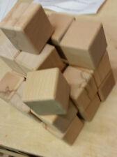 10 xBauklötze-Buchemassiv 60x60x60mm ringsumkindgerecht gerundet