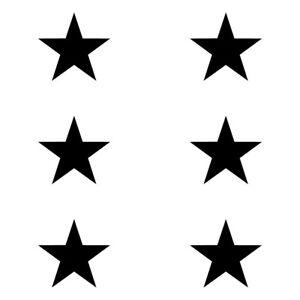 "1 - 3"" STAR PACK x6 Vinyl Decal Sticker Car Window Laptop Night Sky Space Pretty"