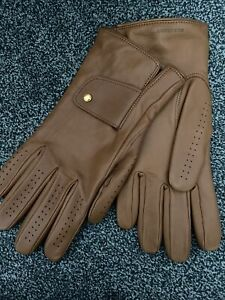 Leather Burberry gloves men