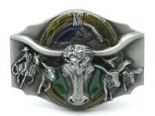Belt Buckle 3D Bull Skull Rodeo Western Cowboy Longhorn Ox (G1)