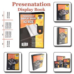 Ark Quality Presentation Display Book Folder Portfolio Black In A2, A3, A4,A5