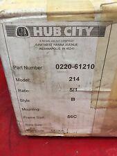 Hub City 0220-61210 model 214 worm gear drive 5/1 ratio 56C frame size Style B