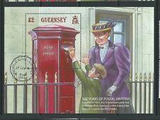 Guernsey 2016 500 ANNI DI STORIA POSTALE FOGLIO in miniatura fine USATO