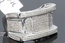 10K Sólido Oro Blanco .50 Quilates Real Anillo de Compromiso Diamante Boda