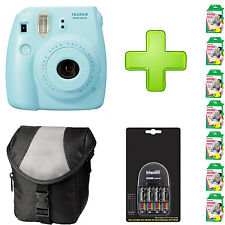 Fujifilm Instax Mini 8 - Blue + Case + 4 x AA Batteries + Charger  and 70 Film