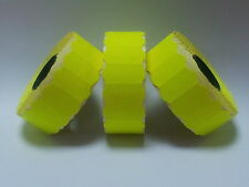 45,000 Fluorescent Yellow Peelable SATO / Samark Price Gun Labels