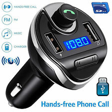 HandsFree Car Bluetooth Wireless FM Radio Adapter USB Charger SD Audio Receiver