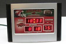 University of Arkansas Razorbacks Scoreboard Desk Clock college football
