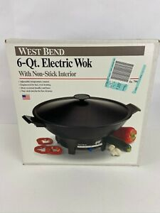 West Bend 6 qt electric wok With Non Stick Interior Black NEW in Box 79117
