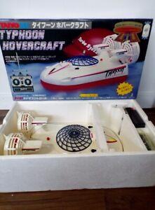 Vintage 1980's Taiyo Japan R/C Typhoon Hovercraft 9.6V White MIB Tyco Nikko