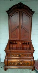 Ethan Allen Tuscany Bombe Secretary Desk With Hutch And 3 drawer Dresser