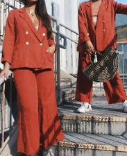 NEW Free People Winnie Suit Size Medium 2-Piece Set Blazer Jacket & Crop Pants