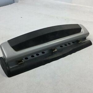 Swingline Paper Puncher 74870 Gray 3-Hole Heavy Duty Padded Handle Desk Office