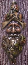 Garden Accent Tree Face Old Man Wall Fence Shed NEW wood toned polyresin #3