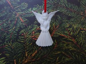 White Porcelain Angel Ornament - Biscuit Porcelain - Hutschenreuther