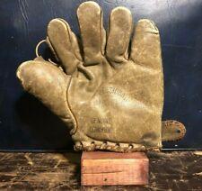 1920s Professional Model Split Finger Vintage Baseball Glove Old Antique