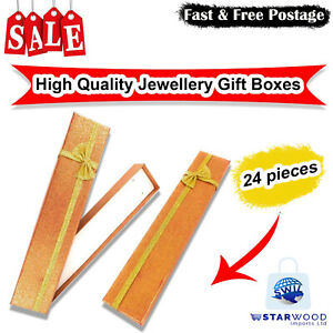 High Quality Necklace, Bracelet, Empty Long Jewellery Gift Boxes Bag, Pack of 24