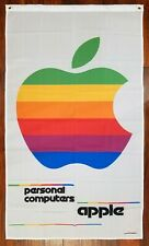 APPLE Personal Computers Advertising Flag Banner 3X5 Black Vintage Sign Mac NEW