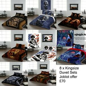 Wholesale Joblot: 8pcs Quality KING SIZE Duvet Sets 100% Cotton £70 o.n.o