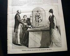 THOMAS ALVA EDISON Inventor & the PHONOGRAPH Invention PRINT 1878 Newspaper