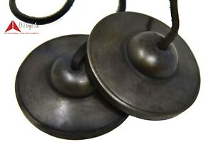 """2.6"""" High-Quality Hand Tuned to Om Key black plain Tingsha Bell(Chimes) in Nepal"""