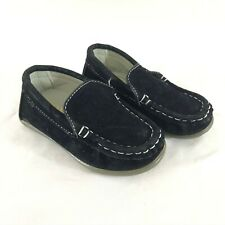Conda Toddler Boys Loafers Moccasins Slip On Faux Suede Black Size 22 US 6