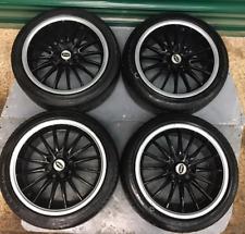 Team Dynamics set of 4 Alloy wheels with tyres, Alloys 195 45 16 multi stud