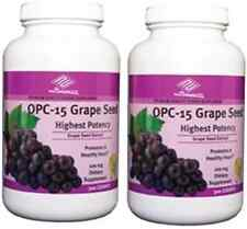 2 bottles OPC-15 Grape Seed Extract (300 Tablets / bottle) highest potency