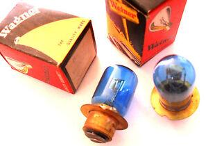 2X LAMPARA 24v 45/40w Lucas  Azul / Blue Light Bulb 2X BULBS Wagner