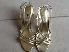"DUNE Champagne Megan-Strappy Shoe Size 39  UK 6 ""New"""