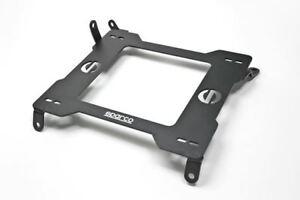 Sparco 600 Series Seat Base Left Black Steel For 2005-2021 Chevrolet Corvette