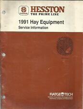 HESSTON 1991 HAY EQUIPMENT SERVICE INFORMATION