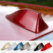 Universal Red Shark Fin Roof Antenna For Car Radio FM/AM Signal Aerial Decor