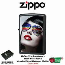 Zippo Reflective Sunglasses Lady, Black Matte, USA Windproof Lighter #29090