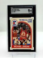 1989-90 NBA Hoops - All-Star - Michael Jordan - #21 - SCG Graded 9 - Low Pop!