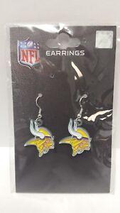 Minnesota Vikings NFL Nickle Plated J Hook Earrings