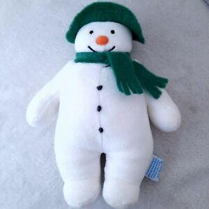Rare EDEN Raymond Briggs The Snowman Plush White Velour Green Felt Scarf Hat